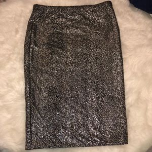 Lily White - skirt - silver